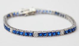 Bracciale Tennis princess grande color blu zaffiro disp. mis. 18 ( su richiesta altre misure)