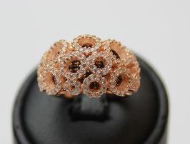 Fascia Rosè bouquet con pietre brown disp. mis. 12 ( su richiesta altre misure)