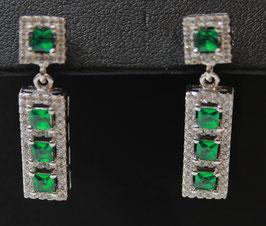 Pendenti taglio princess color verde smeraldo