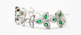 Bracciale con pietre color verde Smeraldo