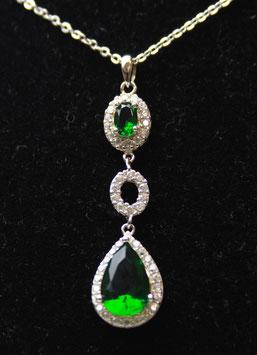 Pendente a goccia verde smeraldo