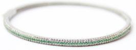 Bracciale rigido color verde Smeraldo