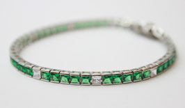 Bracciale Tennis princess grande color verde Smeraldo disp mis. 18 ( su richiesta altre misure)