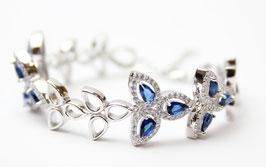 Bracciale con pietre color blu Zaffiro
