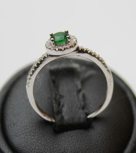 Solitario Margherita verde Smeraldo disp mis. 19 ( su richiesta altre misure)