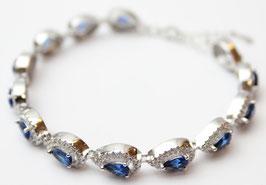 Bracciale Goccia di color Blu Zaffiro con chiusura regolabile