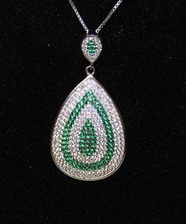 Pendente a goccia color verde smeraldo