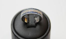 Eterne' con contorno color blu zaffiro disp. mis. 10 (su richiesta altre misure)