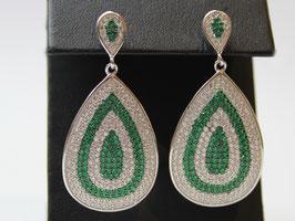 Orecchini pendenti a goccia verde Smeraldo