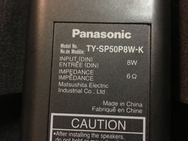 PANASONIC TY SP50PW8 K