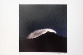 Tableau-haïku - Les yeux vers le ciel
