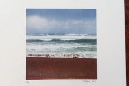 Tableau-haïku - Un peu de sable