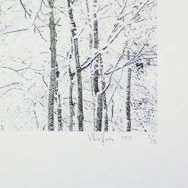 Tableau-haïku - Un mètre de neige