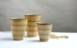 Trinbecher gelb aus Keramik