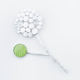 Stirling Silver Allium Flower Brooch Pin