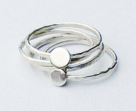 Sterling Silver Stacking Ring - Four
