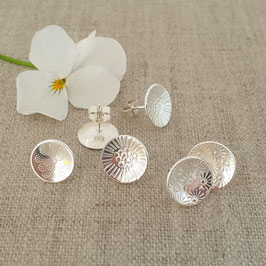 Large Sterling Silver Stud Earrings