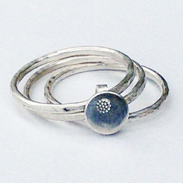 Sterling Silver Stacking Ring - Three