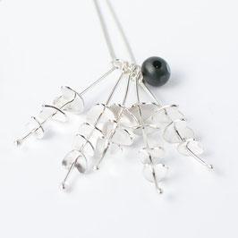 Euphorbia Silver Pendant Necklace (No Leaf)