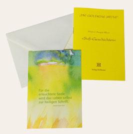 Kunstpostkarte im Umschlag mit Sufi Geschichten