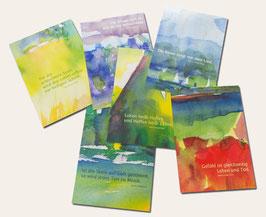 Kunstpostkarten-SET 01 - Weisheiten von Hazrat Inayat Khan