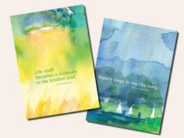 Kunstpostkarten-SET Englisch - Weisheiten von Hazrat Inayat Khan