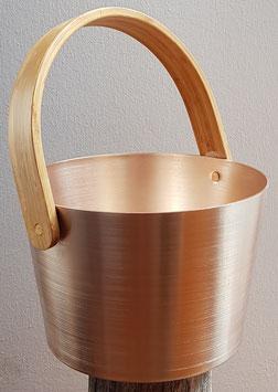 Aluminium-Eimer mit Bambus-Henkel