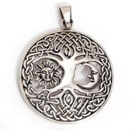 Weltenbaum Yggdrasil 925er Silberanhänger