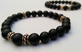 Tibetarmband schwarzer Onyx