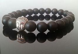 Schwarzer Onyx mit 925 Buddha