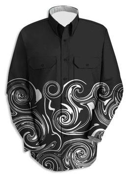 うずまきドレスシャツ