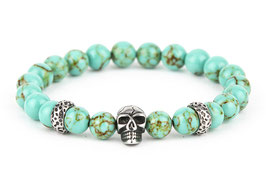 DANKRAD Naturstein Jadeoptik 8 mm Perlen - Single Skull
