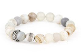 EDDA Achat weiß 8 mm Perlen