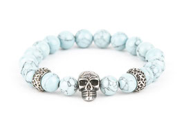 DANKRAD Naturstein Azuloptik 8 mm Perlen - Single Skull