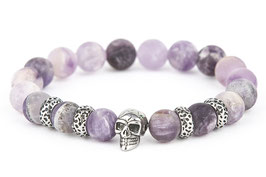 DANKRAD Amethyst 10 mm Perlen - Single Skull