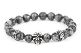 DANKRAD Labradonit 8 mm Perlen - Single Skull