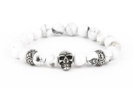 DANKRAD Howlith 8 mm Perlen - Single Skull