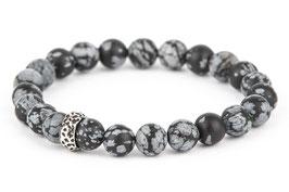 EDDA Schneeflocken-Obsidian 8 oder 10 mm Perlen