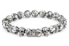 DANKRAD Jaspis 10 mm Perlen - Double Skull