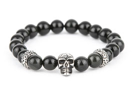 DANKRAD Obsidian 8 mm Perlen - Single Skull