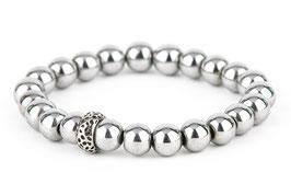 EDDA Hämatit silber 8 oder 10 mm Perlen