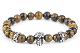 DANKRAD Tigerauge 8 mm Perlen - Single Skull
