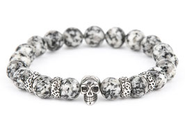 DANKRAD Jaspis 10 mm Perlen - Single Skull