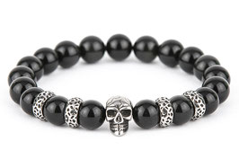 DANKRAD Obsidian 10 mm Perlen - Single Skull