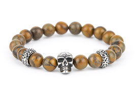DANKRAD Smoked Topas 8 mm Perlen - Single Skull