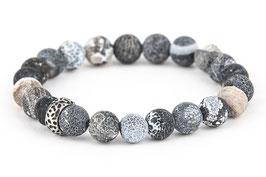 EDDA Achat schwarz 8 mm Perlen