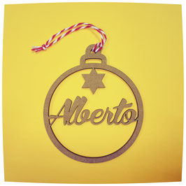 Bolas de Navidad 1 estrella de Colores