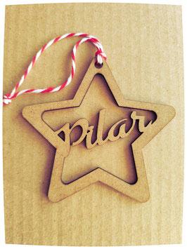 Estrellas de Navidad Sin Pintar