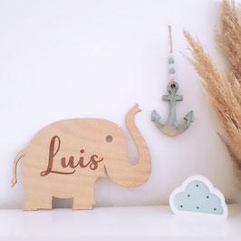 Elefante madera personalizable