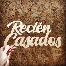 CARTEL RECIÉN CASADOS